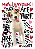 Dog-talk Valentine 5x7 Folded Card