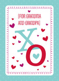 Big XO for Grandparents 5x7 Folded Card