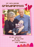 Grandparents Photo Valentine 5x7 Folded Card