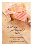 Valentine's Cookies in Basket - Aunt 5x7 Folded Card