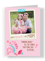 Instant-photo Valentine for Mom 5x7 Folded Card