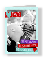 Photo Valentine for Dad 5x7 Folded Card