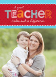 Photo Valentine for Teacher 5x7 Folded Card