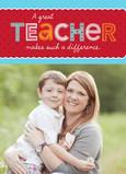 Photo Valentine for Teacher 5x7 Folded Card