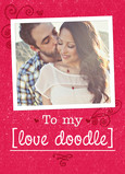Photo Valentine with Pet Name 5x7 Folded Card