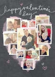 Heart-shaped Photo Collage 5x7 Folded Card