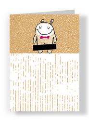 Censored Valentine's Critter 5x7 Folded Card