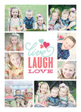 Live Laugh Love - 8 Photos 5x7 Folded Card