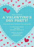 Valentine's Day Party Invitation 5x7 Flat Card