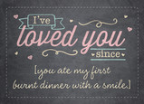 I've Loved You Since… 7x5 Folded Card