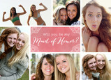 Maid of Honor Request - 6 Photos 7x5 Folded Card