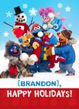 Sesame Street Snowman Scene 5x7 Folded Card