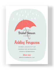 Bridal Shower with Umbrella 5x7 Flat Card