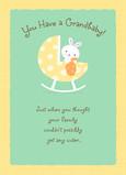 Baby Bunny Grandbaby 5x7 Folded Card