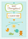 Personalized Baby Mobile 5x7 Folded Card
