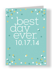 Best Day Ever 5x7 Folded Card