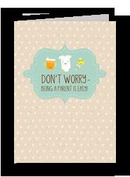 Easy Parenthood 5x7 Folded Card