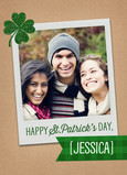 Instant-photo with Glittery Shamrock 5x7 Folded Card