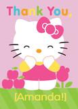 Hello Kitty Thank You 5x7 Folded Card