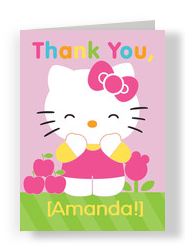 Hello Kitty Thank You 5x7 Folded Card