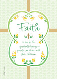 Faith - Green and Gold 5x7 Folded Card