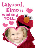 Elmo Valentine with Photo 5x7 Folded Card