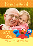 Sesame Street Grandpa Photo 5x7 Folded Card