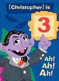 The Count with Age Number 5x7 Folded Card