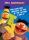 Bert & Ernie Thank You 5x7 Folded Card