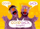Good Luck from the Two-Headed Monster 7x5 Folded Card