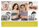 Multi-photo with Citron Green 7x5 Flat Card