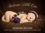 Welcome, Little One Overlay 7x5 Flat Card