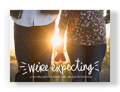 Photo Overlay - We're Expecting 7x5 Postcard