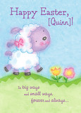 Kids Easter Lamb 5x7 Folded Card