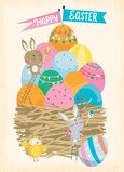 Nest Full of Easter Eggs 5x7 Folded Card