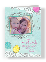 Line Art Photo Frame 5x7 Folded Card