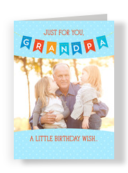Grandpa Bunting with Photo 5x7 Folded Card