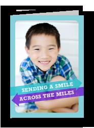A Smile Across the Miles 5x7 Folded Card