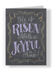 He is Risen! - Chalkboard Design 5x7 Folded Card