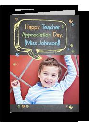 Teacher Appreciation Day with Photo 5x7 Folded Card