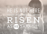 He is Risen - Photo Overlay 7x5 Folded Card