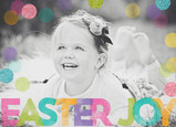 Easter Joy - Colorful Overlay 7x5 Folded Card