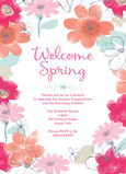 Editable Invitation with Floral 5x7 Flat Card