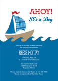 Sailboat Baby Shower Invitation 5x7 Flat Card