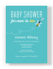 Mom-to-bee Baby Shower 5x7 Flat Card