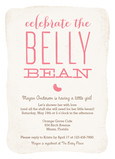 Belly Bean Baby Shower - Pink 5x7 Flat Card