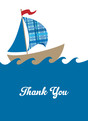 Sailboat Thank You Note 3.75x5.25 Folded Card