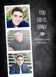 Grad Photo Strip on Chalkboard 5x7 Folded Card