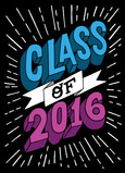 Class of 2015 - Action Block Letters 5x7 Folded Card