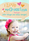 I Love My Grandma Because… 5x7 Folded Card